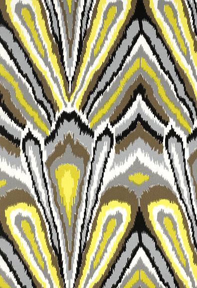 Peacock print schumacher
