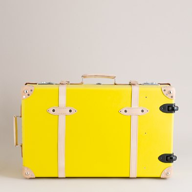Jcrew yellow suitcase