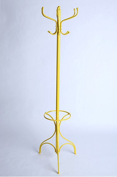 Yellow coatrack urban