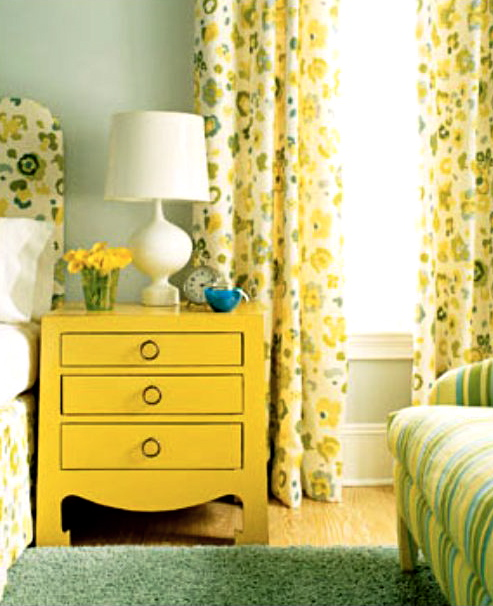Yellow bedside table houseb