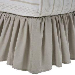 Shabby chic linen bedskirt