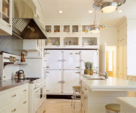 White Kitchen Cabinets With Stainless Appliances