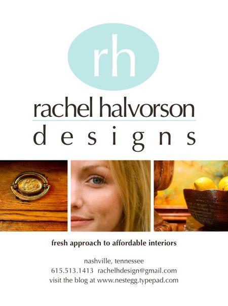 Rachel Halvorson Designs Ad