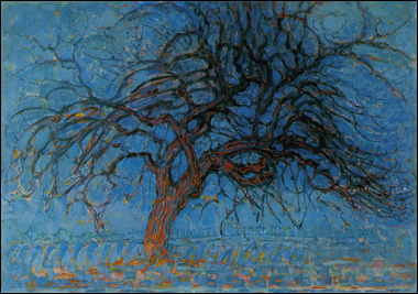 Piet mondrian red tree