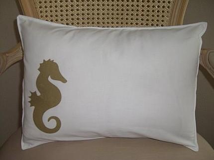 Etsy seahorse pillow