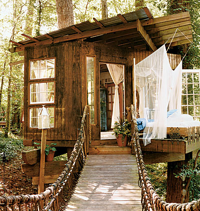 Peter bahouth tree house, cottage living