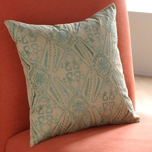 Nate berkus crewel pillow