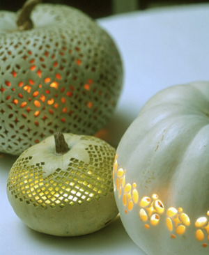 Lace patterned pumpkins martha