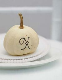 Pumpkin place cards country living