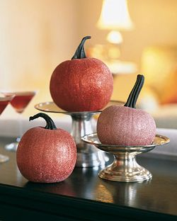 Glitter pumpkins martha stewart