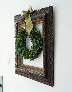 Framed wreath country living