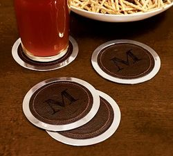 Leather coasters pb