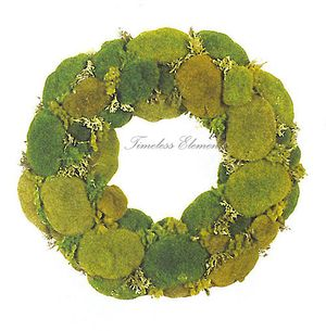 Moss wreath timeless elements