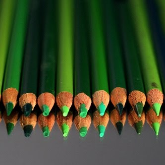 Green crayons flicker