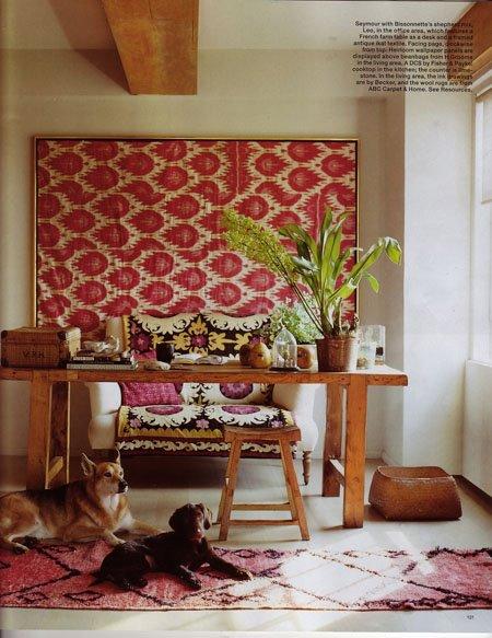 Framed tapestry simon upton